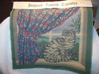 """JACQUARD LOOMED TAPESTRY 16""""  CRAFT PANEL CAT IN WINDOW NEW"""