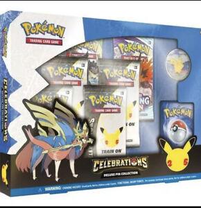 Pokémon TCG: Celebrations Zacian Deluxe Pin Collection Box - BRAND NEW & SEALED
