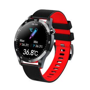 Smart Watch Body Temperature Heart Rate Blood Pressure Oxygen Monitor Health