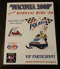 2008 Waconia Ride In Polaris Starfire Eastman Limited Edition Collectible Plaque
