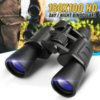 180x100 Zoom Day/Night Vision Outdoor HD Binoculars Hunting Telescope + Case SET