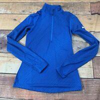 Nike Womens 1/4 Zip Shirt Jacket Pullover Size Small Blue B229