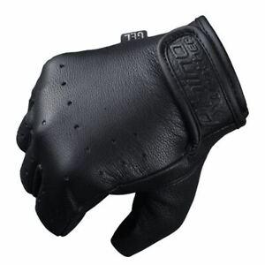 Premium Grade Leather Fingerless Motorcycle Gloves