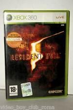 RESIDENT EVIL 5 GIOCO USAO OTTIMO XBOX 360 EDIZIONE ITALIANA MC3 36389