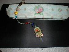 MICHAL NEGRIN KEY CHAIN  LUCKY HAMSA HAND  KEY RING PURSE FOB JEWELRY NEW