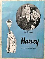 "VINTAGE ORIGINAL 1945-46 PLAYBILL PROGRAM - ""HARVEY"" - JOE E. BROWN AUTOGRAPH"