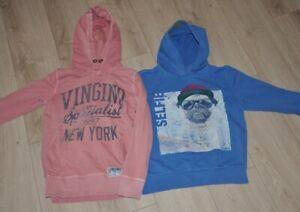 2 x Sweatshirt Pullover Kapuzenpullover Kapuze, Vingino & S.Oliver, Gr. 140