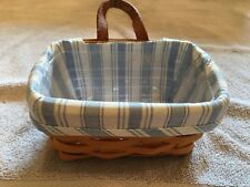 LONGABERGER BASKETS 2 BLUE W LINERS AND PLASTIC