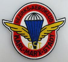 GST Abzeichen: Bezirks Aeroklub der GST Karl Marx Stadt gestickt, GST370