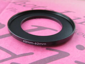 43mm to 62mm Stepping Step Up Filter Ring Adapter 43mm-62mm