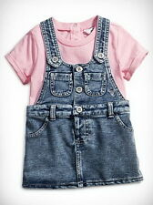 GUESS Baby Clothing Girls Knit Denim Jumper With Tee 2 Pieces Set Size 18M