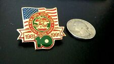 NEW YORK APPLE CORE HOCKEY CLUB LONG BEACH ARENA 1981-91 ANNIVERSARY 10 Yrs Pin