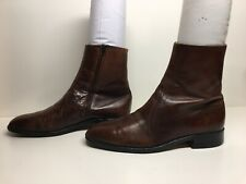 MENS UNBRANDED CASUAL DARK BROWN BOOTS SIZE 10 D