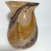 Bob Allen Hand Blown Vase Beautiful Art Glass Signed and dated by Bob Allen 2005