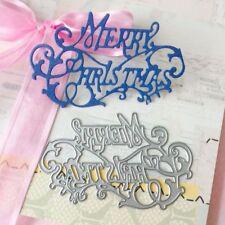 Merry Christmas Cutting Dies Stencil DIY Scrapbook Album Paper Card Embossing