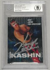 Kendo Kashin Signed 00 Future Bee Collecara New Japan Pro Wrestling Card BAS COA