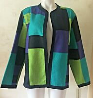 ALFRED DUNNER That's Genius Multicolor Lightweight Jacket Size 18 NWT