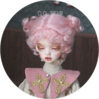 QQ-40B Pink Color BJD Doll Mohair Wig {Dolly Planet} 1/8;1/6 ;1/4  *Micky*