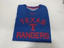 Nike Texas Rangers Short Sleeve Shirt, Large, Royal Blue/Red
