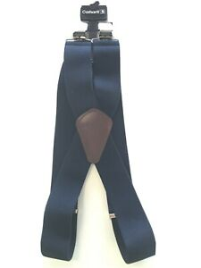"Carhartt Utility Suspenders 2"" Adjustable Clip-on Work Hunter Belt Navy Blue NWT"