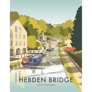 Hebden Bridge - West Yorkshire - (by Dave Thompson)  steel fridge magnet  (se)