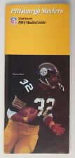 1984 Pittsburgh Steelers Nfl Football Press book media guide Franco Harris cover
