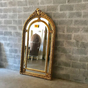 BIG FRENCH LOUIS XVI FLOOR MIRROR. WORLDWIDE FREE SHIPPING
