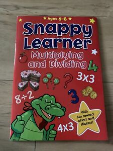 Snappy Learner Multiply & Dividing Educational Maths Book Reward Chart Age 6-8