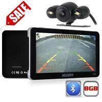 "7"" Car GPS Navigation+Wireless Rearview Camera Bluetooth AV-IN FM 8GB New US Map"