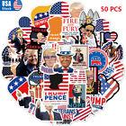 50pcs 2024 Donald Trump President Campaign Stickers Car Bumper/Republican Party