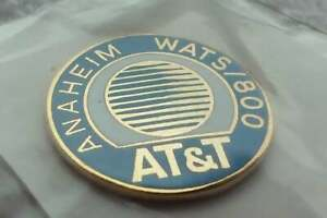 AT&T Anaheim WATS vintage pin badge California phone number lines