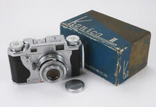 KONICA II, 50/2.8 KONISHIROKU HEXANON, DUST, BOXED, COSMETIC ISSUES/cks/188847