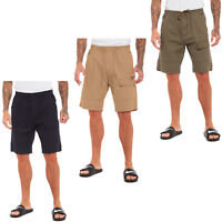MENS PLAIN CARGO SHORTS 100% COTTON CASUAL SUMMER BEACH COMBAT WORK SPORTS PANTS