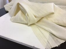 "Cream Ivory Hand Woven Raw Silk Dupion Fabric 44"" 112cm Dress Material Cloth Art"