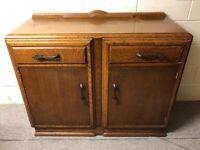 VINTAGE 1920's Oak Sideboard Cabinet- Art Nouveau (Delivery Considered)
