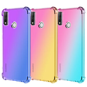For Huawei Y8S Y5P Y6P Y7P Slim Shockproof Gradient Silicone Soft TPU Case Cover