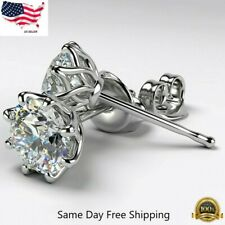 Fashion Stud Earrings Women 925 Silver Jewelry White Sapphire A Pair/set