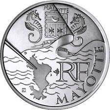 10 € 2011 EN ARGENT SERIE DRAPEAUX 2010 - MAYOTTE - NEUVE -  50.000 EX.