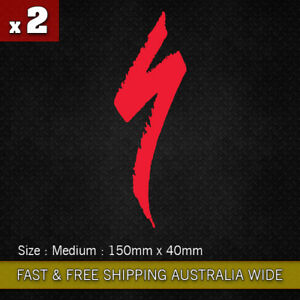 2 x Large Specialized S Logo vinyl sticker decal 150mm  Bicycle Mountain Bike