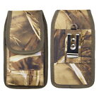 Universal Vertical Canvas Pouch Case with Belt Loop Clip for Smartphones-4 sizes