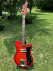 1965-1966 Palmer / Tempo Matsumoku Double Cut Red Electric Guitar - NICE for sale