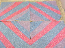 Lot of 11 Vintage Machine Quilted Quilt Squares 10 Inch Diagonal Paper Piecing