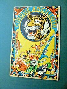 1925 programme guide CIRQUE ANCILLOTTI circus circo program programma programm