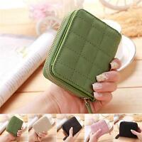 Women Fashion PU Leather Small Wallet Zip Coin Purse Card Holder Clutch Handbag