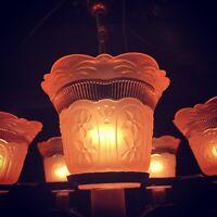 Stunning 5 Arm Art Deco Ceiling Light