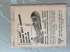 a1z ephemera 1951 advert taylor tools & supplies ltd manchester