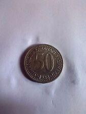 Yugoslavia 50 Dinara 1988 coin free shipping