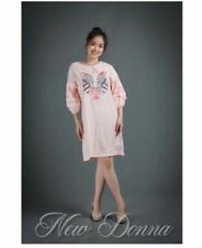DRESS EMBROIDERED (PEACH)