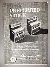 Wurlitzer Americana III Jukebox PRINT AD - 1968