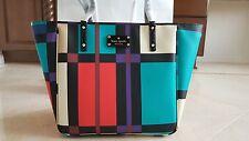 Kate Spade New York Perry Street Plaid Michelle Tote Bag Handbag Purse NWT